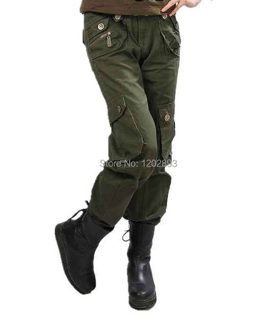 Christmas gifts Wholesale Korean women\'s camouflage pants army green ...