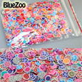 BlueZoo  1000pcs Multi Style Rose Flowers Nail Art Slicing 3D Diy Nail Stickers Fimo Decoration