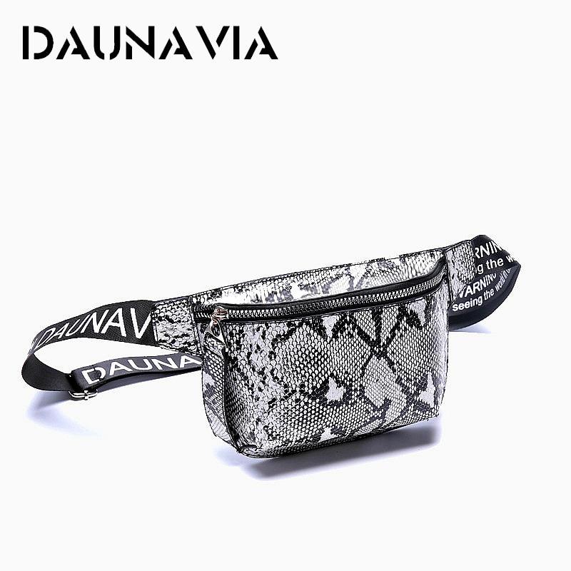 DAUNAVIA Waist Pack Serpentine Waist Bags Women Fashion Designer Belt Chest Bag Mini Diagonal Women's Bag Luxury Shoulder Bags