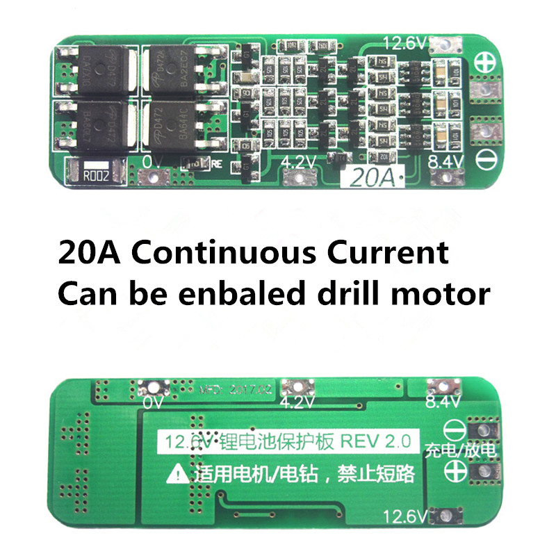 2PCS 3S Li-ion Lithium Battery 18650 Charger Protection Board 10.8V 12.6V 15A