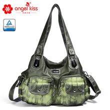 Angelkiss Брендовая женская сумка из мягкой кожи, модная сумка через плечо, летняя новая женская сумка