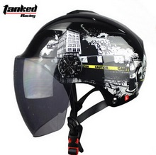 Tanked Гонки Летом половина лица мотоциклетный шлем T506 электрический велосипед мотоцикл шлемы Анти-Уф 9 Цветов размер M, L, XL