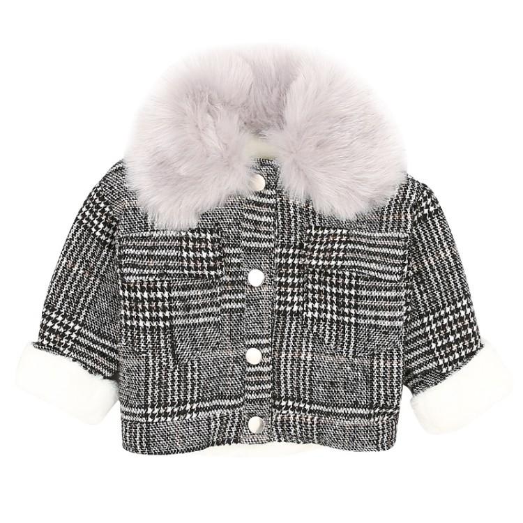 children winter jackets 2018 kids warm jackets single breasted plaid girls winter coat big collar thicken outwear for girls 2-5T color block splicing single breasted plus size thicken blazer page 2