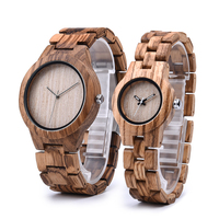DODO DEER Zebra Wood Wrist Watches Men Women Quartz Male Female Customized zegarek damski in Gift Box