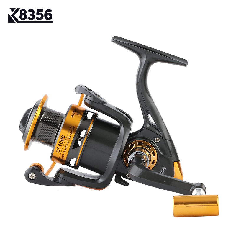 K8356 pesca carrete giratorio carpa carrete de pesca 12BB 5,2: 1 taza de Metal línea izquierda/mango derecho arma fresco/agua salada carrete GF1000 ~ 6000