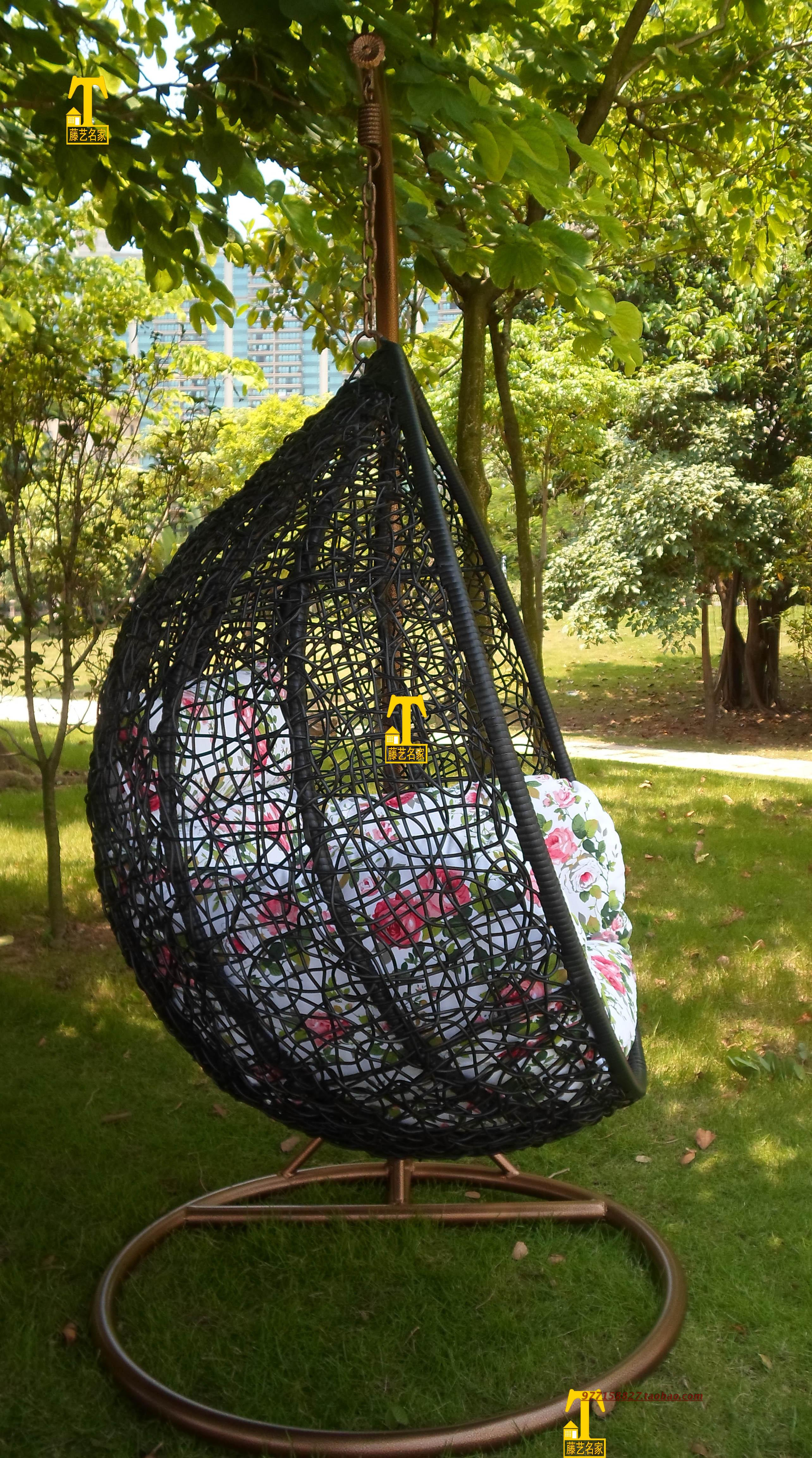 Outdoor Wicker Chair Swing Hanging Indoor Basket Rocking Specials Big Full  Set Of Large Black In Hanging Baskets From Home U0026 Garden On Aliexpress.com  ...