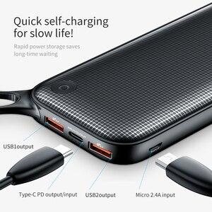 """Image 4 - Baseus 20000mah כוח בנק פ""""ד QC3.0 מהיר מטען USB הכפול סוג C מהיר טעינת Powerbank נייד מטען עבור מחשב נייד עבור טלפון"""