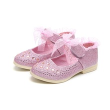 2019New Childrens Shoes Kids bowknot Rhinestone princess Little Baby Girls Soft bottom baby toddler shoes