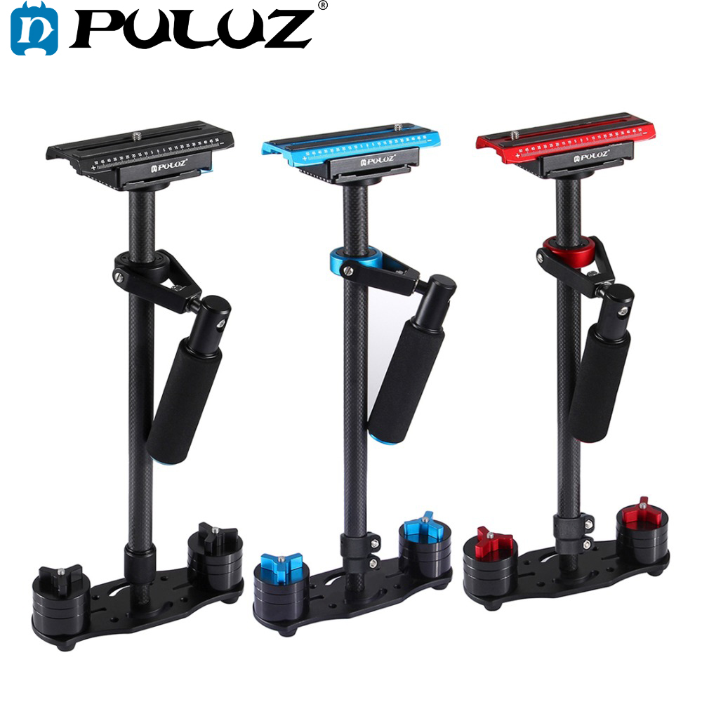 PULUZ Adjustable S60T For Steadycam Scalable Carbon Fiber Handheld Camera Stabilizer For Steadicam For Canon Nikon DSLR Cameras
