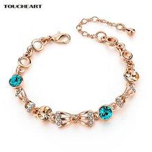 Женский браслет цепочка с кристаллами toucheart винтажные браслеты