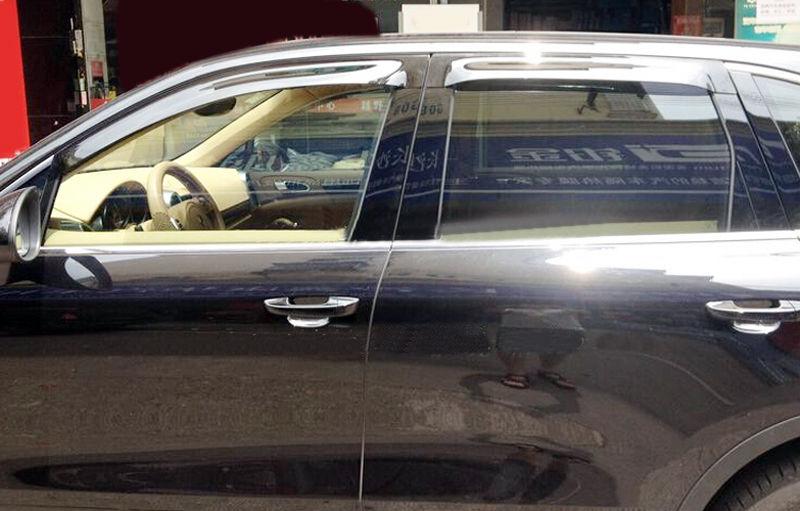 For Ford Edge 2016-2017  Window Visor  Sun Rain Guard Vent Shade