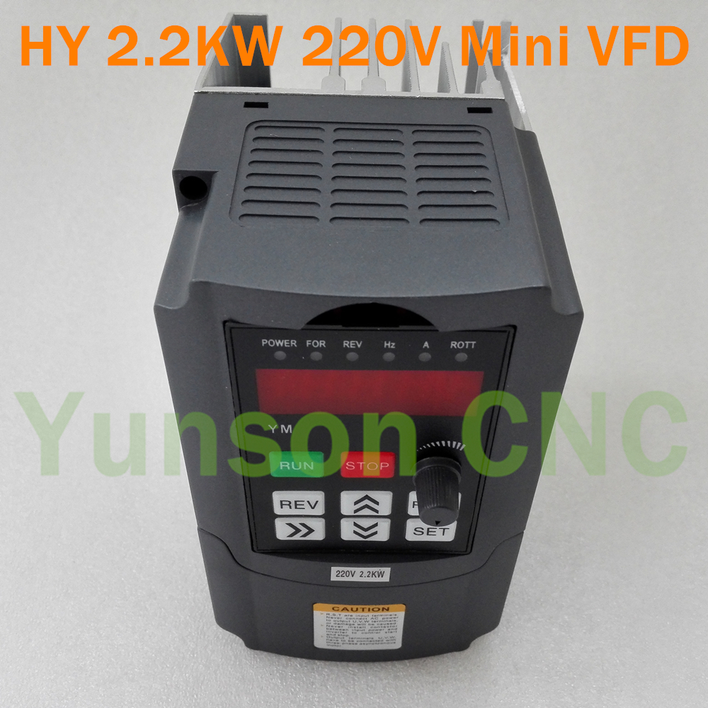 2 2kw 2200w 3hp 400hz huanyang mini size variable for Vfd for 1hp motor