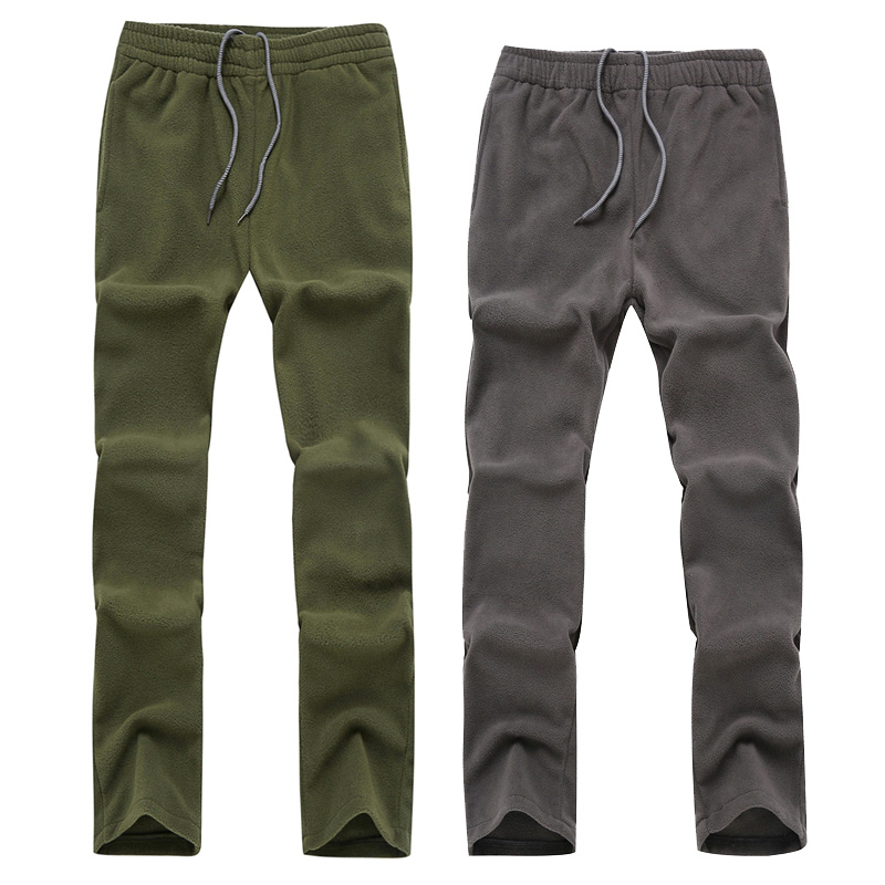 Fleece Pants Men Women Couple Solid Color Keep Warm Windproof Sweatpants 888 Male Female Outdoor Camping Hiking Pants