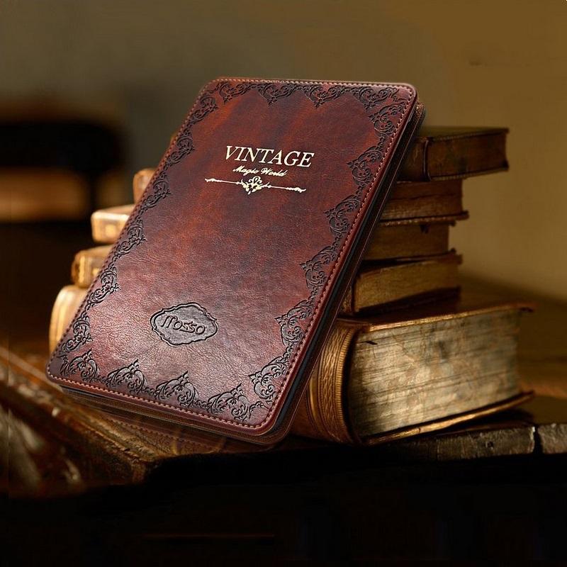 Prix pour Haute qualité pu en cuir tablet case pour ipad air 1 9.7 pouces Rétro Vintage Ultra Mince Flip Couverture Style Book Veille