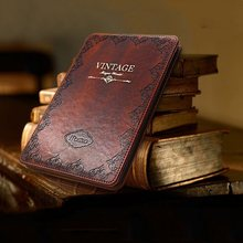 Solque PU Leather Tablet Case for iPad Air 1 2 9.7 Luxury Retro Vintage Ultra Slim Book Flip Hard Shell Cover Case Wake Sleep(China)