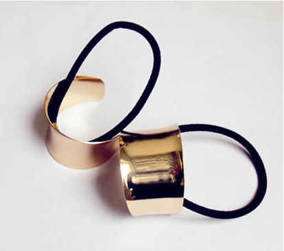 Chic Catwalk Hair Cuff Wrap Tail Band Metal Holder Ring Mirror Tie Stretch hair rope  jewelry CJWD17