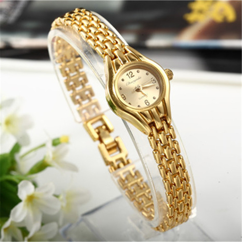 Women Bracelet Watch Alloy Luxury Golden Wristwatch  Hour Quartz Stainless Steel Fashion Female Mujer Wristwatch Relogio Feminin