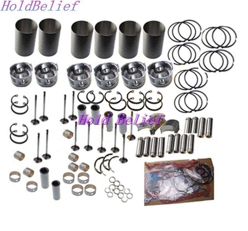 6SD1 6SD1T Rebuild Kit For Isuzu Engine EX300 EX330 Excavator And LS Crane Truck Engine Rebuilding Kits     - title=