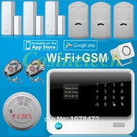 Latest G90B PLUS Smart home alarm system,IOS&Android APP controlled multi language GSM Wifi 3G Alarm system with 8 wired zones