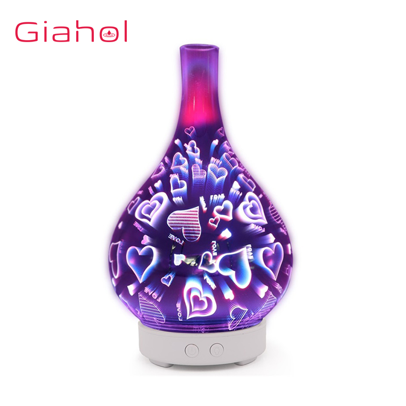 Ultrasonic Air Humidifier 3D Love butterfly LED Night Light Aroma Oil Diffuser Aromatherapy Machine Moistener Atomizer