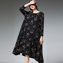 4XL Women Dresses Cotton Linen Plus Size Spring 2019 New Black Work Casual Vintage Irregular Party Dress Pocket Woman Clothing