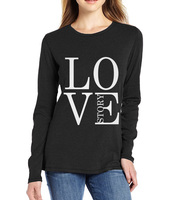 Love Story Print Men Long Sleeve T Shirts Women 2017 Spring Summer Funny Harajuku T Shirts
