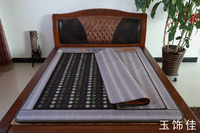 Jade Tourmaline Mattress Bamboo Carbon Fiber Custom Jade Mattress Electric Jade Cushion Heated Mat 1.2X1.9M