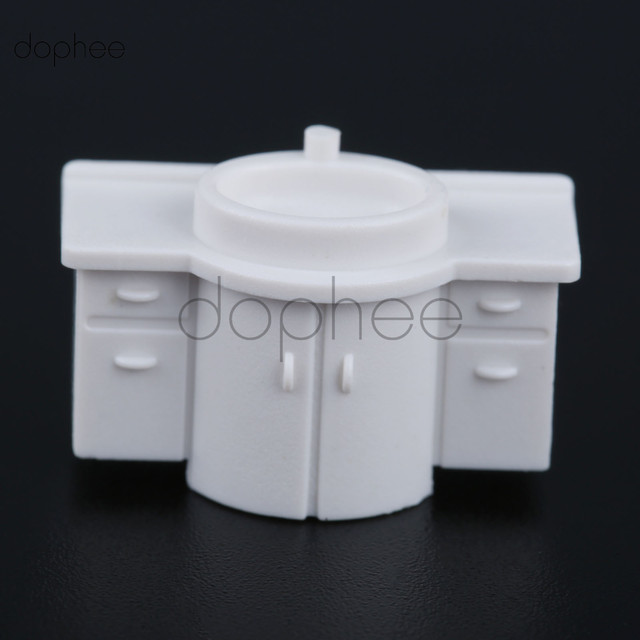 dophee 10pcs  Wash Basin Model Pretend Play Bathroom Toys for Kids Children 1:50 Dollhouse Miniature