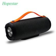 Hopestar alto-falante portátil 10w, sistema estéreo, rádio fm, subwoofer de música, coluna de alto-falante para pc
