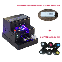 A4 Size LED Automatic UV flatbed Printer for leather Plastic etc printing