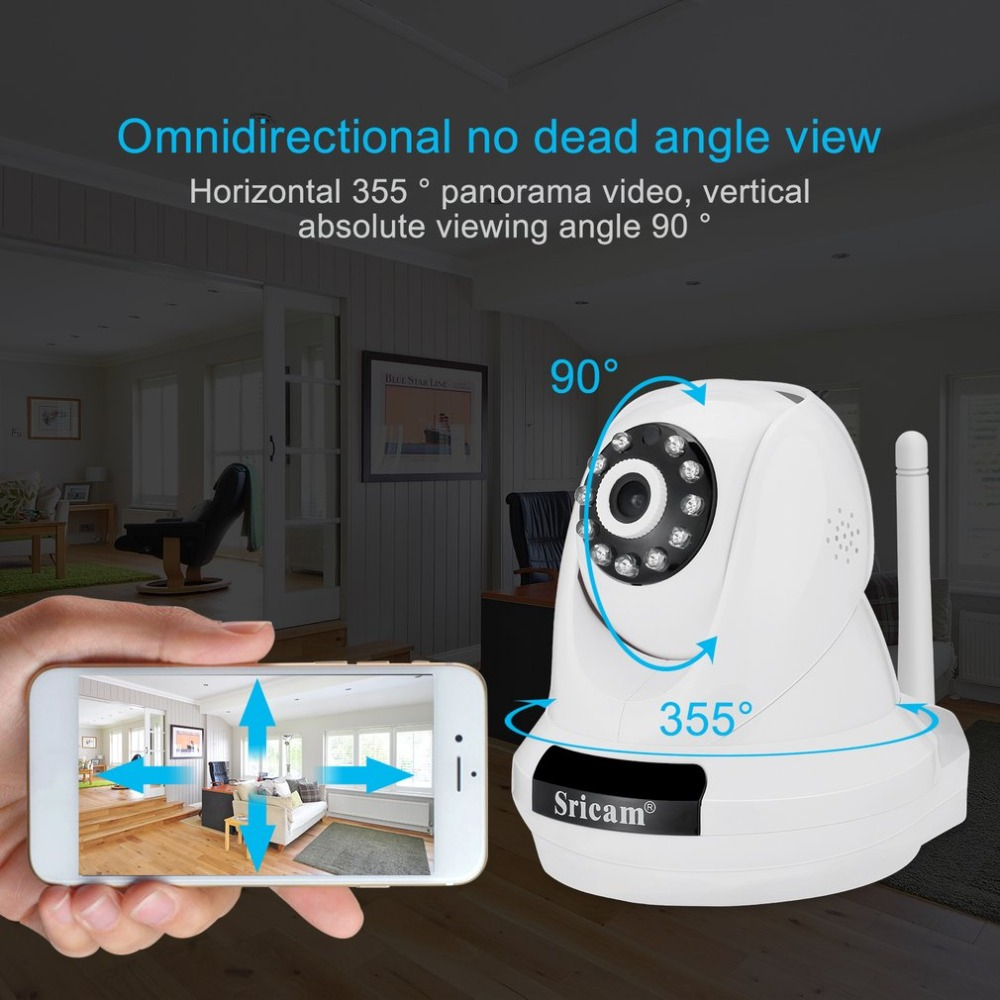 Sricam IP Camera 1080P Wireless Security Camera 80 degree Viewing Angle 2.0MP WiFi Surveillance Home Monitor Motion Detection 4pcs lot sricam sp006b wifi wireless ip security camera for home security smart home ip camera
