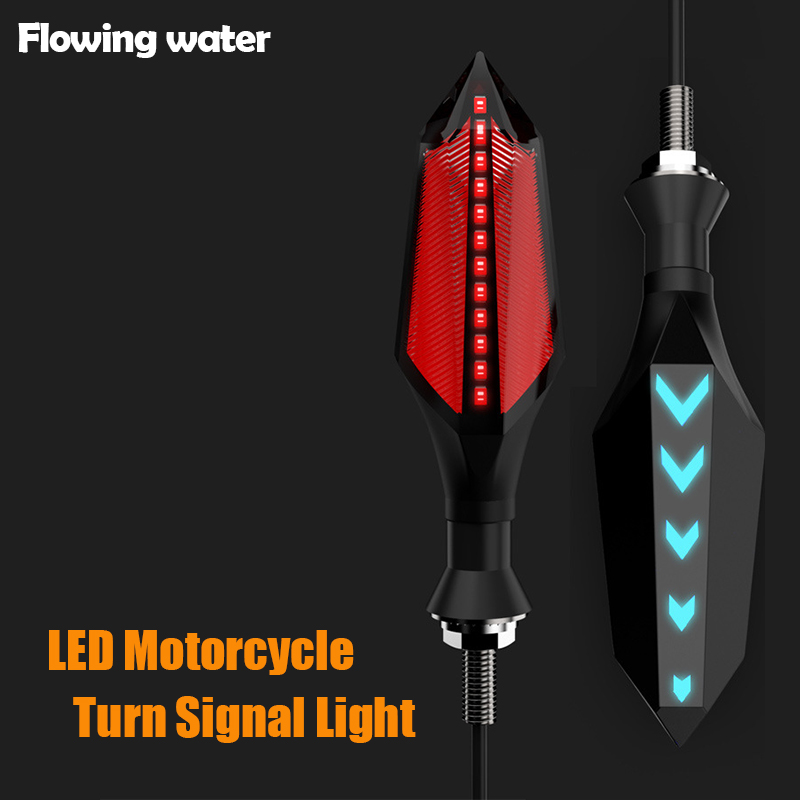 2pcs Motorcycle LED Turn signals turn lights LED direction lamp decorative motorbike lights Daytime Running light DRL