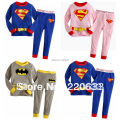 new 2014,children,baby boy clothes,baby wear,bebe,girl pyjamas,pijamas,superman,kids pajamas set,pajama kids sets,