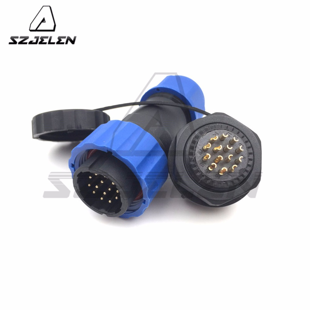 SD20TP-ZM, 14 pin waterproof connector male to female , Automotive Connectors, LED power wire plug and socket m12 aviation plug 8pins stragiht female or male plugs sensor connector socket connectors