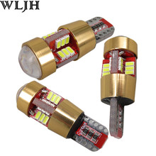 WLJH 4x T10 Car LED W5W LED Canbus 3014 SMD 12v Car Styling Side Marker Width Parking Bulb Position Clearance light Universal