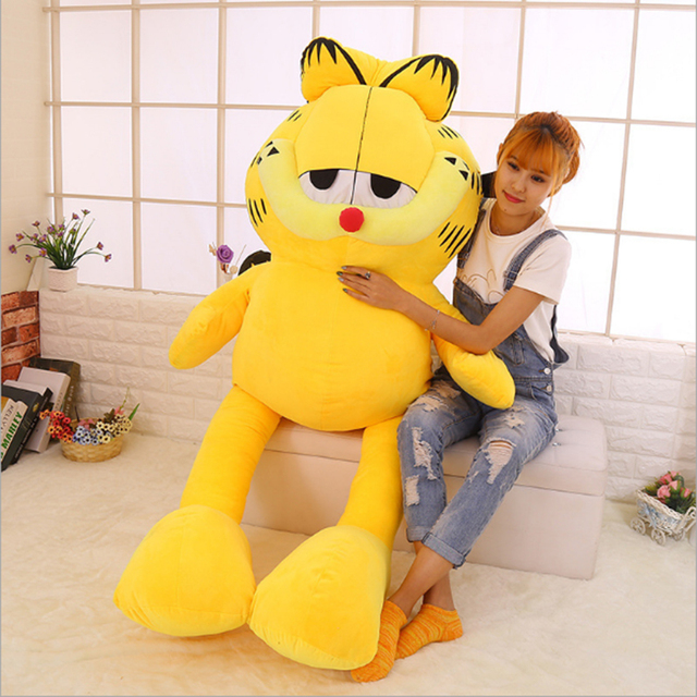 130 180cm Huge Big Garfield Cat Skin Shell Plush Toy Doll Semi