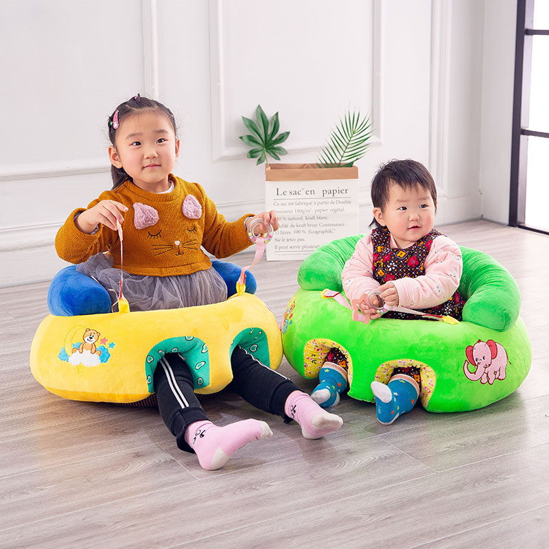 0-4 Years Old Baby Seat Colorful Cartoon Plush Kids Sofa Learning To Sit Indoor Floor Sofa Crawling Mat Baby Playmat On-slip