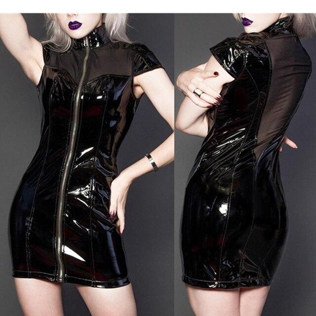 pvc custom Fetish dresses vinyl