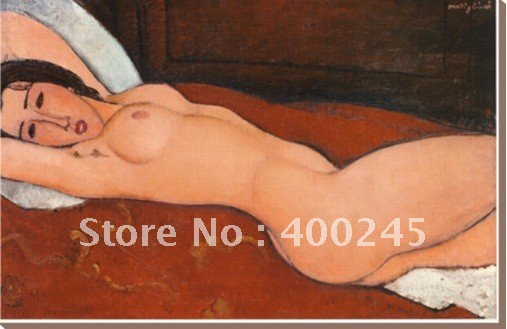 Abstract oil painting portrait oil painting Reclining Nude by Amedeo Modigliani High quality+100%handmade+Free shipping