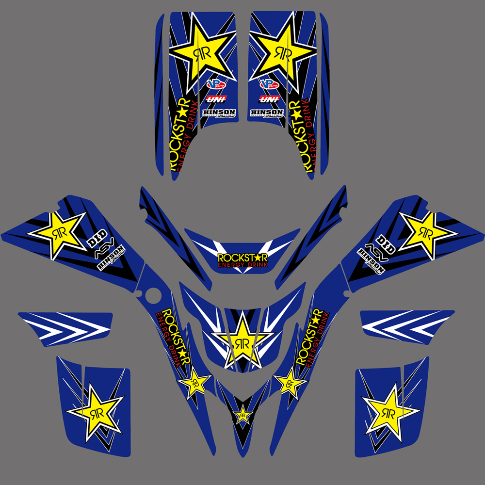 NICECNC 5 Styles Motorcycle Team Graphic Background Sticker Decal Kit For Yamaha Blaster YFS 200 YFS200 1998-2004 2005 2006