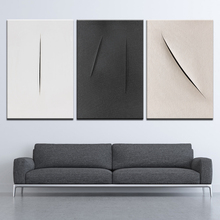Canvas Painting Black and white abstract minimalism 3 Pieces Nordic Wall Art Modular Wallpapers Poster Print Home Decor