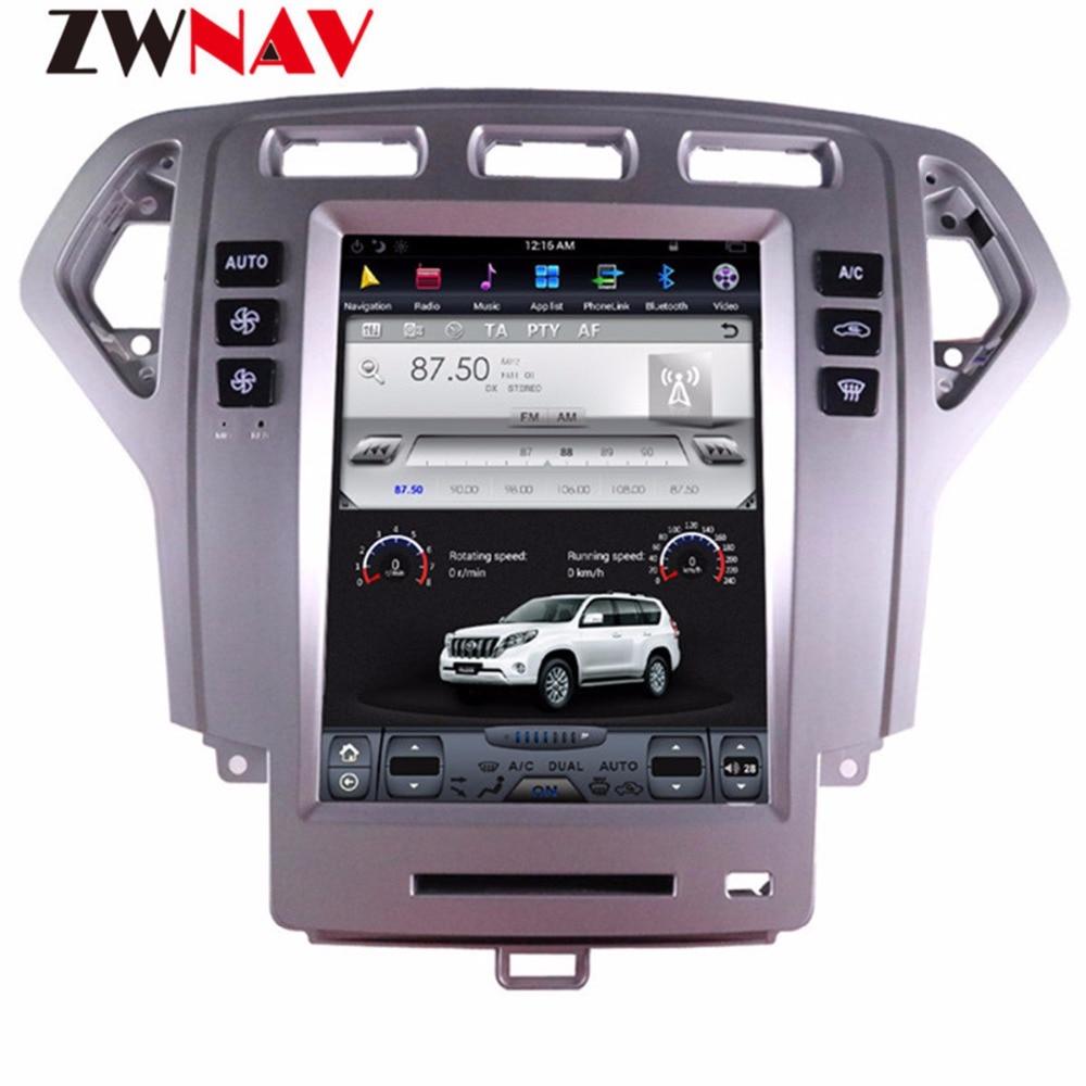 ZWNVA Tesla стиль экран Android 7,1 Автомобильный плеер gps навигация Радио экран для Ford Mondeo MK4 2007-2012