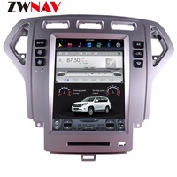 ZWNVA Tesla style Screen Android 7.1 Car Player GPS Navigation Radio Screen For Ford Mondeo MK4 2007 2012