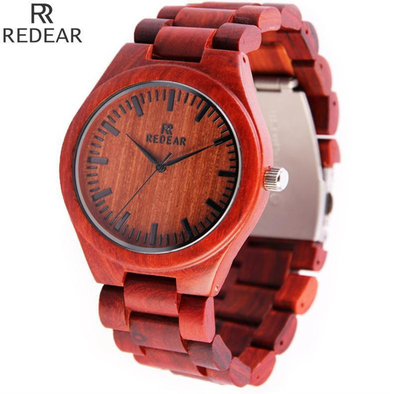 REDEAR903 font b all b font bamboo material luxury men s font b watch b font