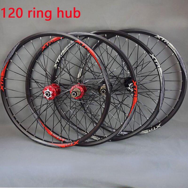 26 29 27.5 32Holes Disc Brake Mountain Bike Wheels 120 Ring Hub MTB Bicycle Wheels front 2 rear 5 sealed bearings26 29 27.5 32Holes Disc Brake Mountain Bike Wheels 120 Ring Hub MTB Bicycle Wheels front 2 rear 5 sealed bearings