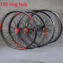 цена на 26'' 29 27.5 32Holes Disc Brake Mountain Bike Wheels 120 Ring Hub MTB Bicycle Wheels front 2 rear 5 sealed bearings