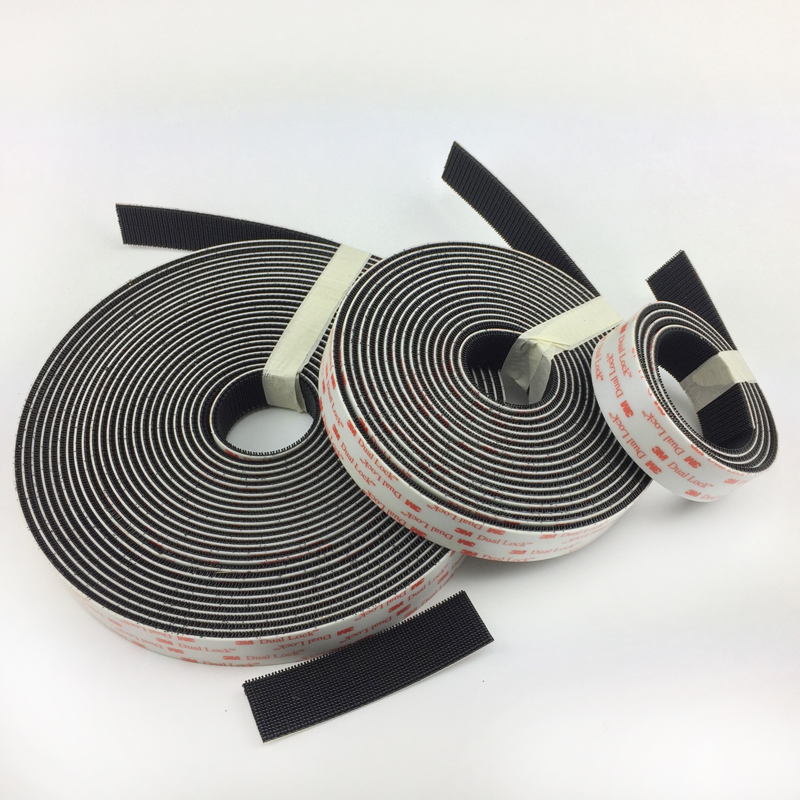 Dual Lock SJ3550 25 4mm width Black VHB adhesive tape Mushroom Fastener Tape Type 250 in Adhesive Fastener Tape from Home Garden