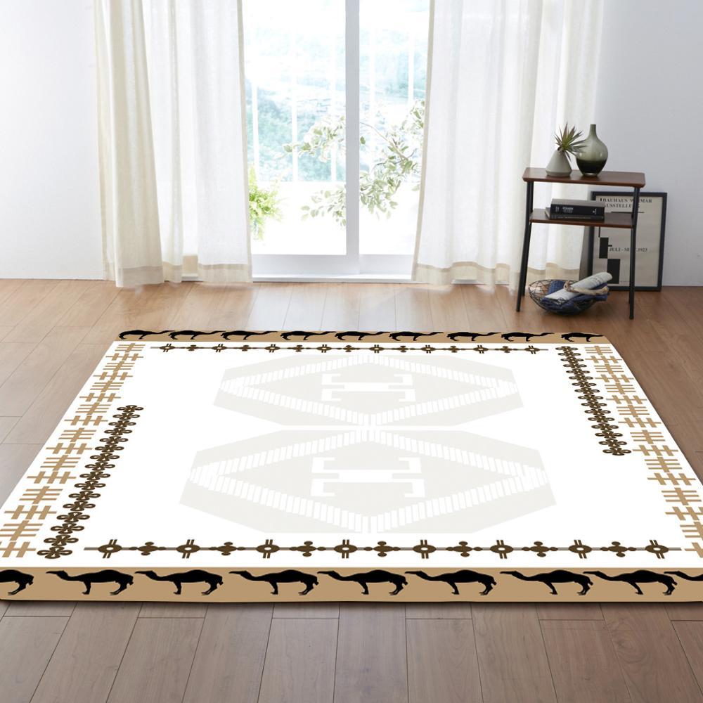 Style européen fleur motif Floormat tapis zone tapis couverture enfant jouer jeu tapis pour chambre salon décoration de la maison cadeaux - 2