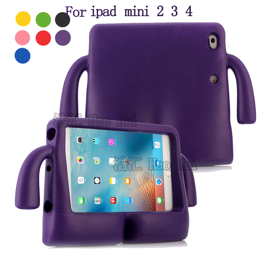 For iPad Mini 4 Case Lovely robot Kids Friendly Non-toxic EVA Foam Shockproof Stand Cover Cases for iPad Mini 1 2 3 Coque Capa
