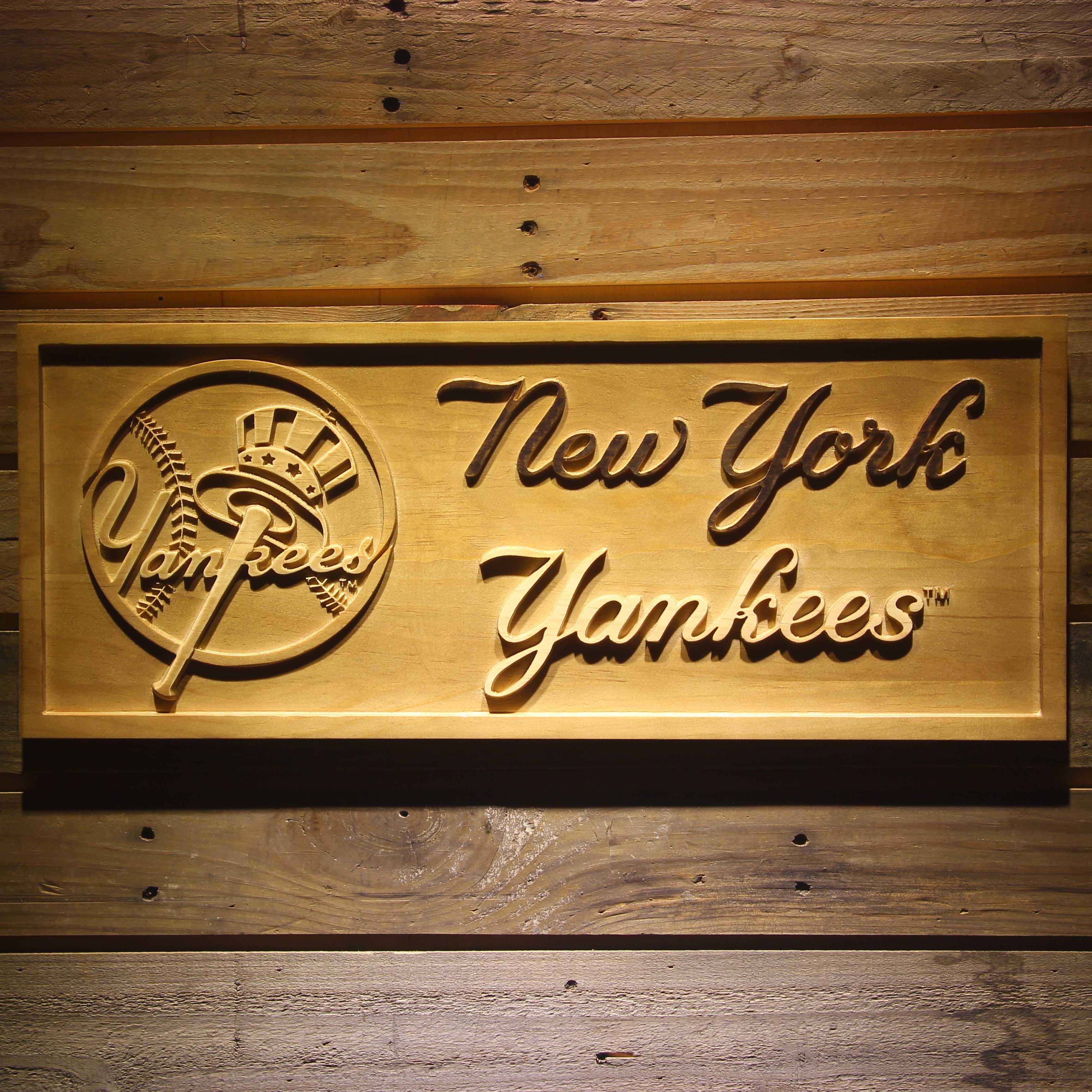 New York Yankees 3D Holz Zeichen in New York Yankees 3D Holz Zeichen ...